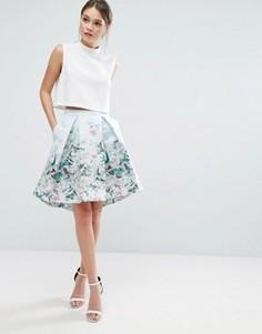 Асимметричная юбка Ted Baker Reylia - Синий