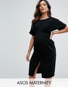 Платье с разрезом спереди ASOS Maternity - Черный