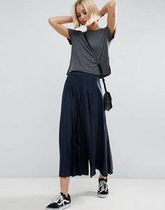 Юбка-брюки в складку ASOS Uber - Темно-синий