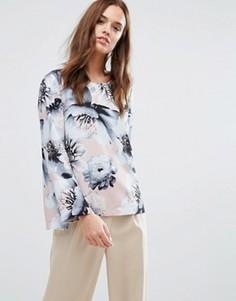 Рубашка с цветочным принтом Selected Femme - Мульти