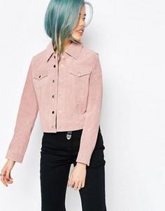 Замшевая куртка в стиле вестерн ASOS - Розовый