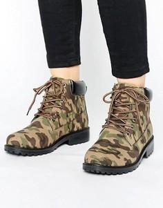 Ботинки на толстой подошве Park Lane - Зеленый