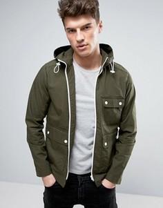 Куртка с капюшоном и контрастной молнией Produkt - Зеленый
