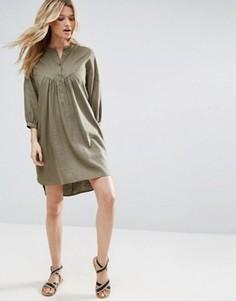 Свободное платье-рубашка на каждый день ASOS - Зеленый