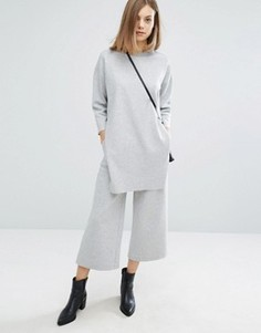 Укороченные комбинируемые широкие брюки Dr Denim Abel - Серый
