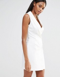 Платье-блейзер с запахом Missguided - Белый
