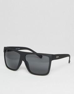 Солнцезащитные oversize‑очки Quay Australia Barnun - Черный
