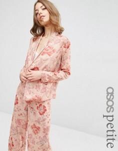 Пижамная блузка с цветочным принтом ASOS PETITE - Мульти