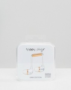 Белые наушники с мраморным принтом Happy Plugs Carrara - Мульти