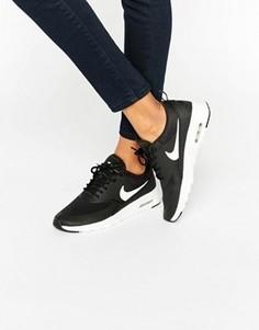 Кроссовки с черно-белой отделкой Nike Air Max Thea - Черный