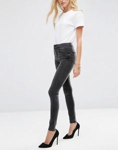 Черные выбеленные джинсы с завышенной талией ASOS Premium Sculpt Me - Черный