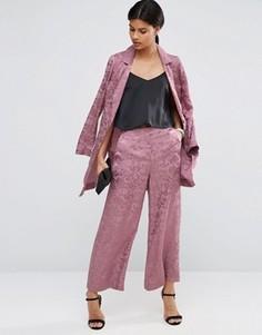 Юбка-шорты с широкими штанинами и принтом ASOS - Розовый
