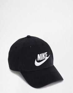 Бейсболка из выбеленного черного денима Nike Futura 626305-012 - Черный