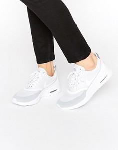 Кремовые кроссовки с серой отделкой Nike Air Max Thea Ultra - Белый
