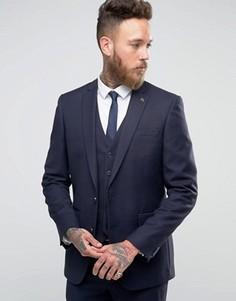Фланелевый пиджак скинни Farah - Темно-синий