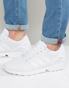 Белые кроссовки adidas Originals ZX Flux S32277 - Белый