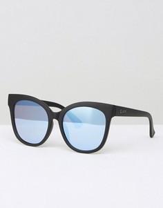Солнцезащитные очки кошачий глаз с плоскими стеклами Quay Australia Its My Way - Черный