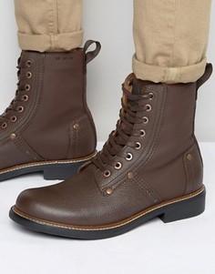 Кожаные ботинки на шнуровке G-Star Labour - Коричневый