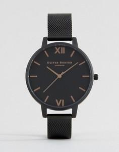 Часы с ремешком в стиле сеточки Olivia Burton After Dark OB15BD83 - Черный