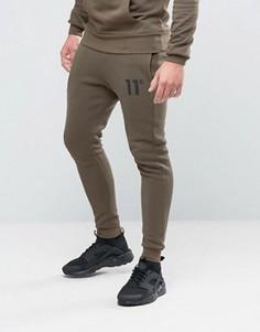 Зауженные спортивные штаны 11 Degrees - Зеленый