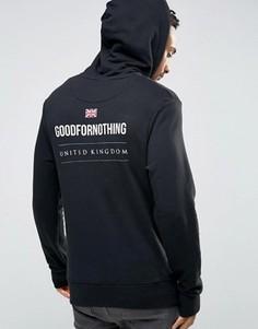 Худи с принтом на спине Good For Nothing - Черный