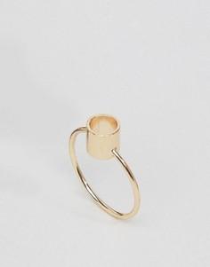 Кольцо с контурной геометрической отделкой ASOS - Золотой
