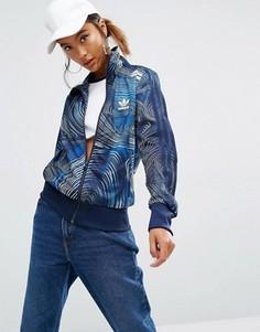 Спортивная куртка на молнии adidas Originals Geology Firebird - Синий