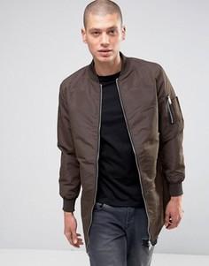 Удлиненная куртка Brave Soul - Коричневый