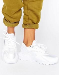 Белые кроссовки для бега Nike Air Huarache - Белый