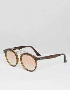 Солнцезащитные очки с блестящими стеклами Ray-Ban Gatsby - Коричневый