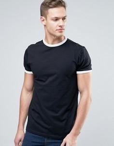 Черная футболка New Look Ringer - Черный