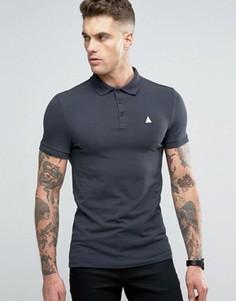 Серая облегающая футболка-поло с логотипом ASOS - Серый