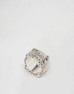 Кольцо в мальчишеском стиле с декором в виде цепочки ASOS - Серебряный