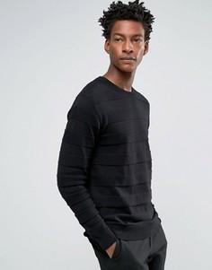 Джемпер в полоску с круглым вырезом Troy Tone - Черный