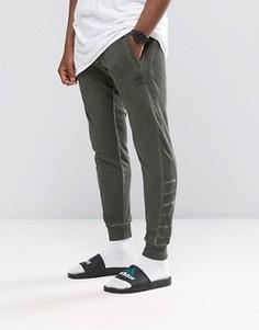 Зеленые джоггеры с манжетами adidas Originals Street Modern AY9208 - Зеленый