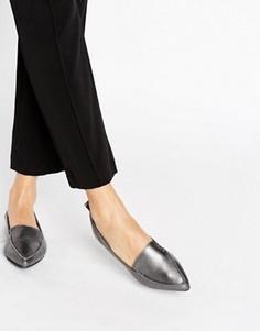 Кожаные туфли на плоской подошве с заостренным носком ALDO Bazovica - Серебряный