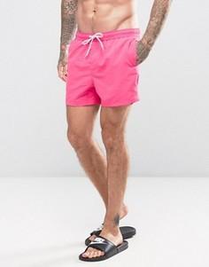 Ярко-розовые укороченные шорты для плавания ASOS - Розовый