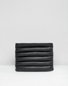 Клатч с дутыми вставками ASOS - Черный
