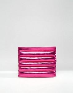 Клатч с эффектом металлик ASOS - Розовый