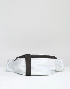 Фактурная сумка‑кошелек на пояс с голографическим эффектом ASOS LIFESTYLE - Серебряный