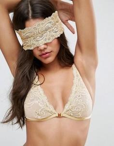 Золотистая повязка на глаза с вышивкой ASOS BRIDAL Paloma - Золотой