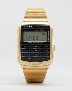 Черно-золотистые цифровые часы Casio - Черный