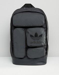 Черный рюкзак с карманами adidas Originals AY8663 - Черный