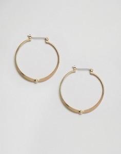 Позолоченные серьги-кольца Pieces Flora - Золотой