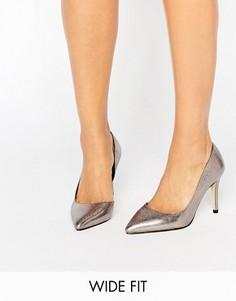 Туфли-лодочки металлик для широкой стопы Faith Chloe - Серебряный