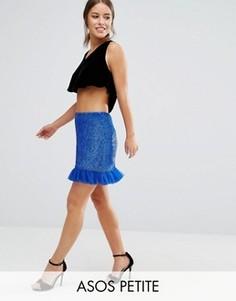 Мини-юбка с отделкой ASOS PETITE - Синий