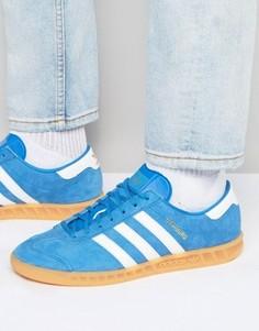 Голубые кроссовки adidas Originals Hamburg S76697 - Синий
