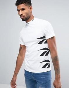 Белая футболка с логотипом Reebok Vector AZ9545 - Белый