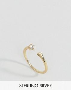 Незамкнутое серебряное кольцо с покрытием из розового золота ASOS - Золотой