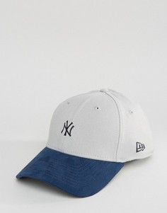 Кепка с замшевым козырьком New Era 39Thirty NY Yankees - Серый